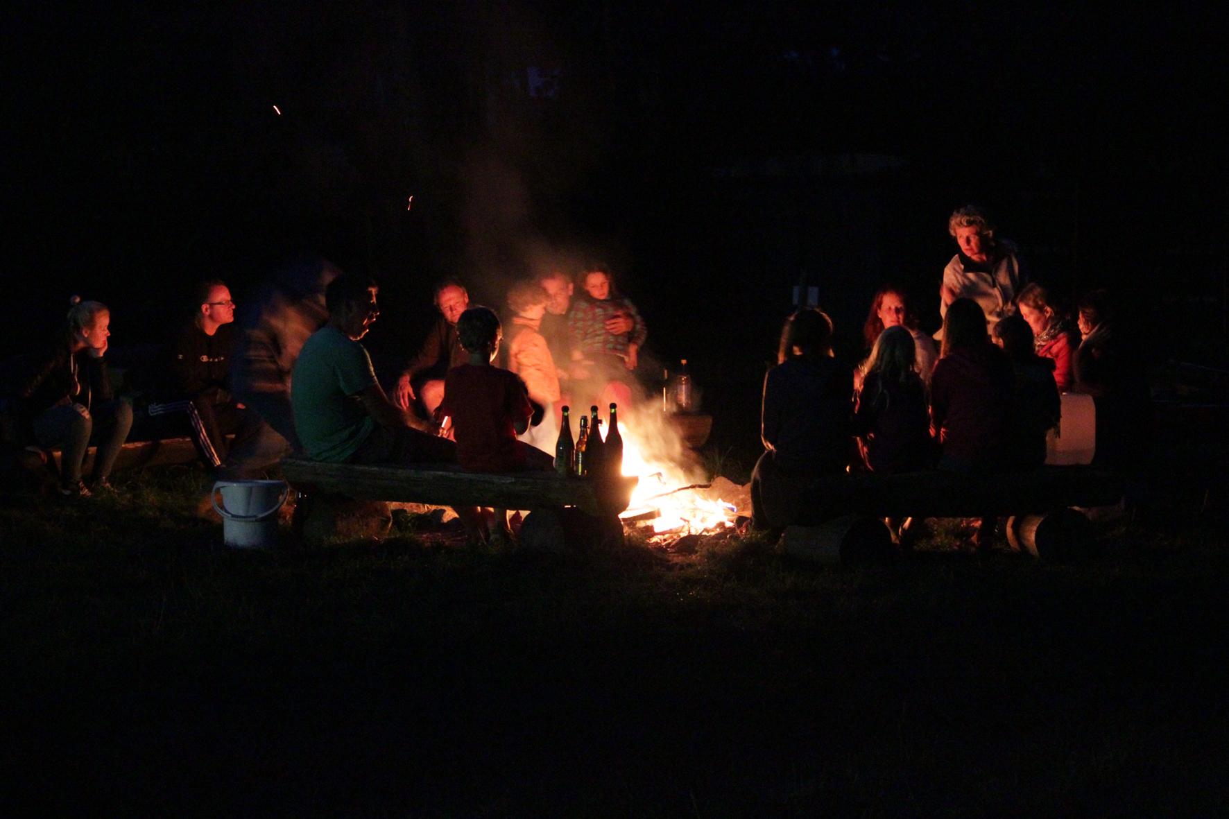 Lagerfeuer an der Fleether Mühle