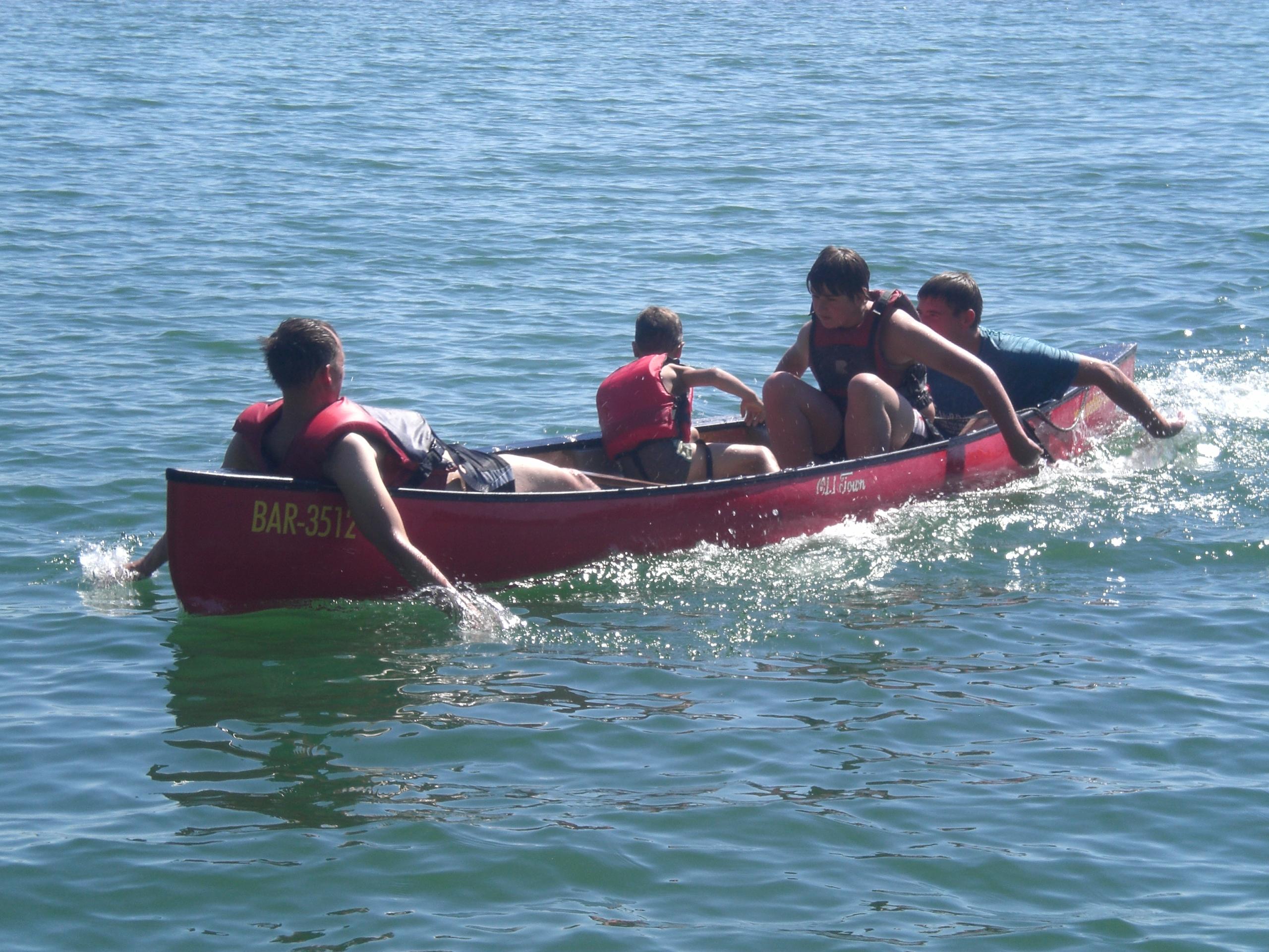 Paddeln im Kanu